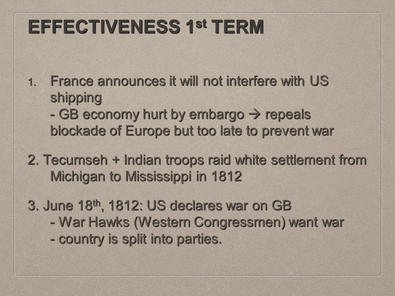 MAJOR ISSUES 2 nd TERM 1.