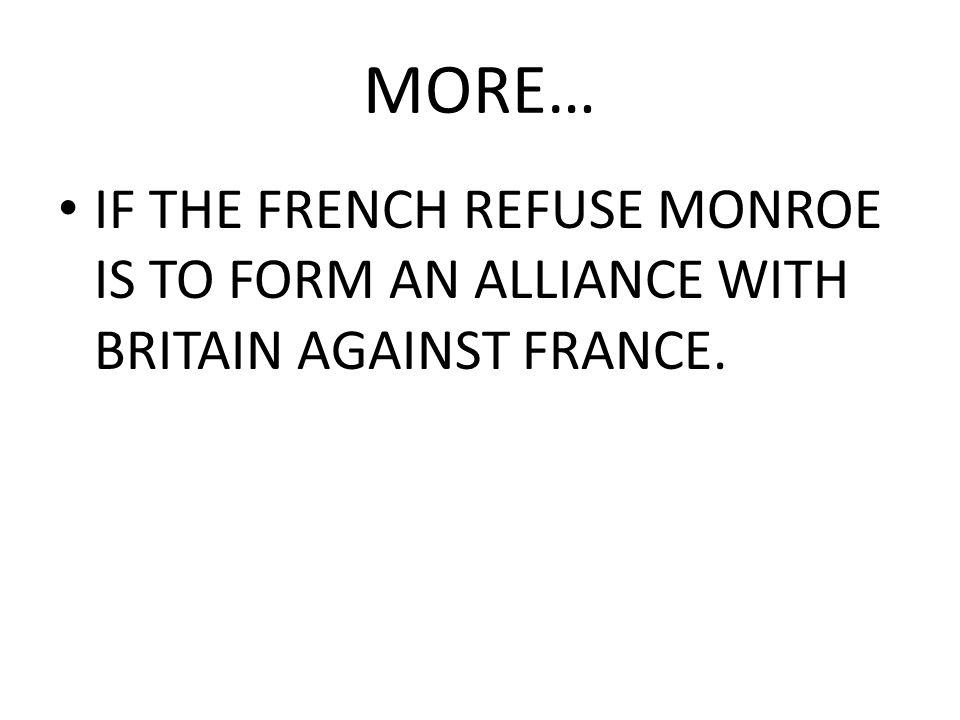 JEFFERSON WANTS NEW ORLEANS JEFFERSON SENDS JAMES MONROE & ROBERT LIVINGSTON TO PARIS.