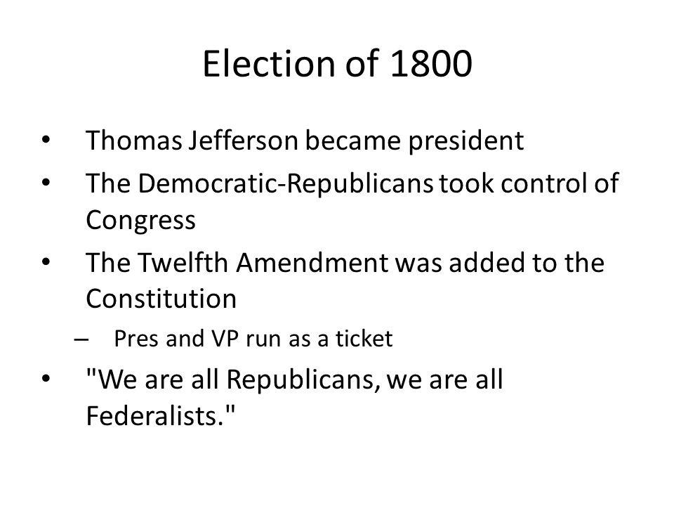 Jefferson to War of 1812