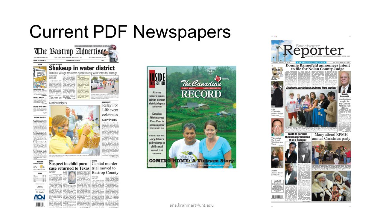 Current PDF Newspapers