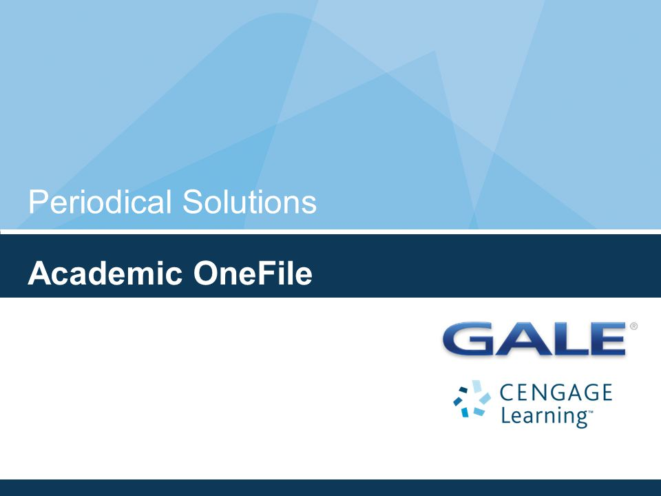 Periodical Solutions Academic OneFile