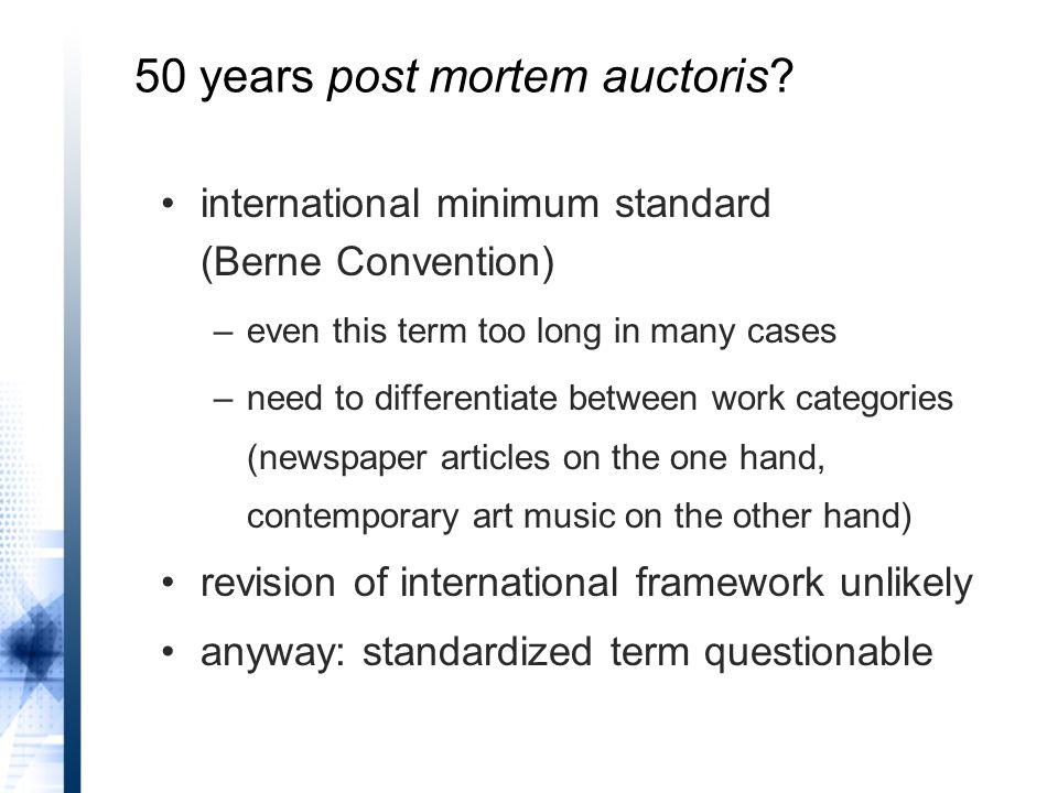 50 years post mortem auctoris.