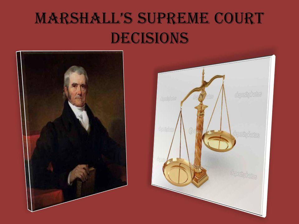 Marshall's Supreme Court Decisions