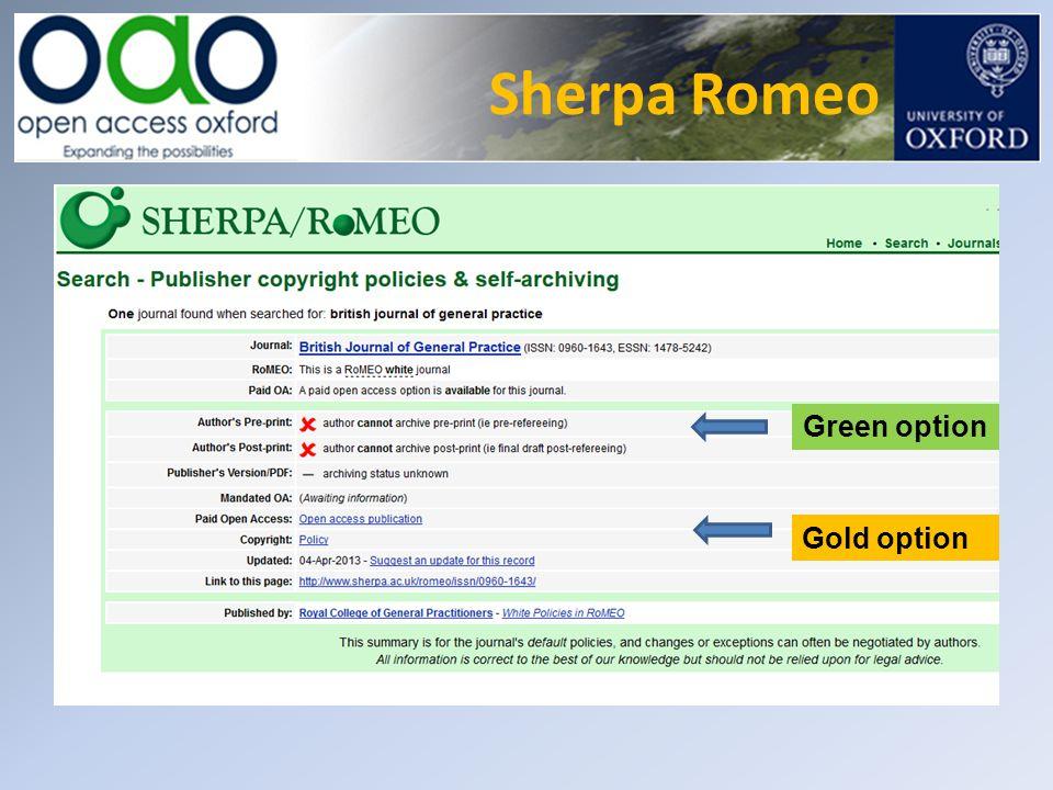 Sherpa Romeo Green option Gold option