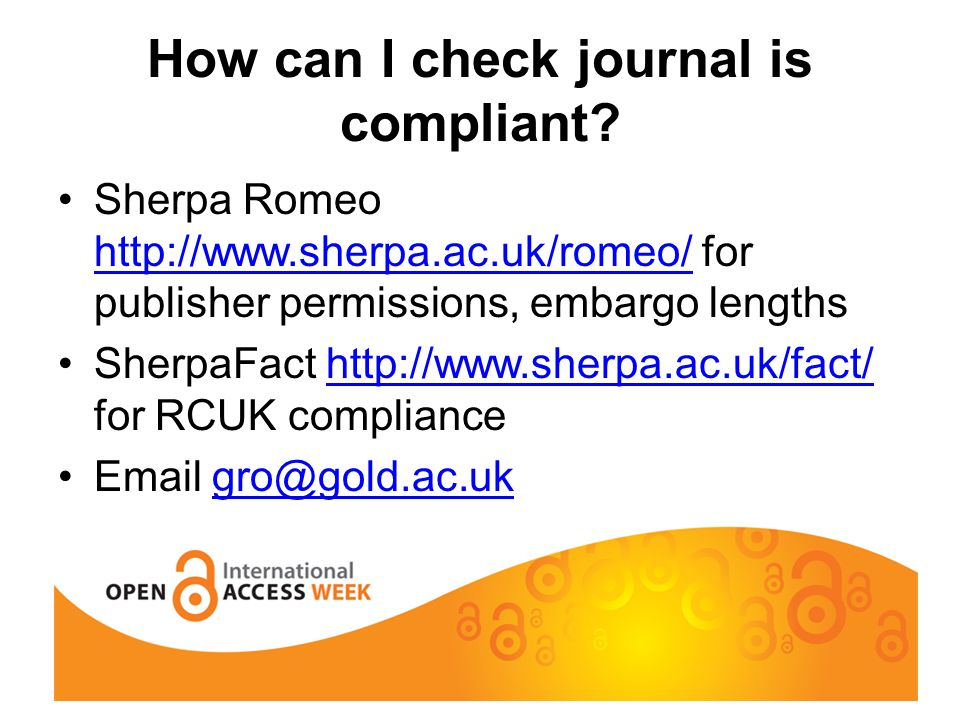How can I check journal is compliant.
