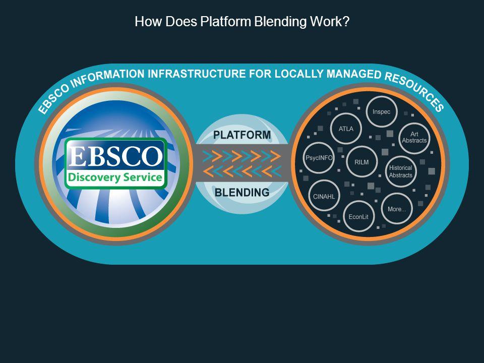 How Does Platform Blending Work
