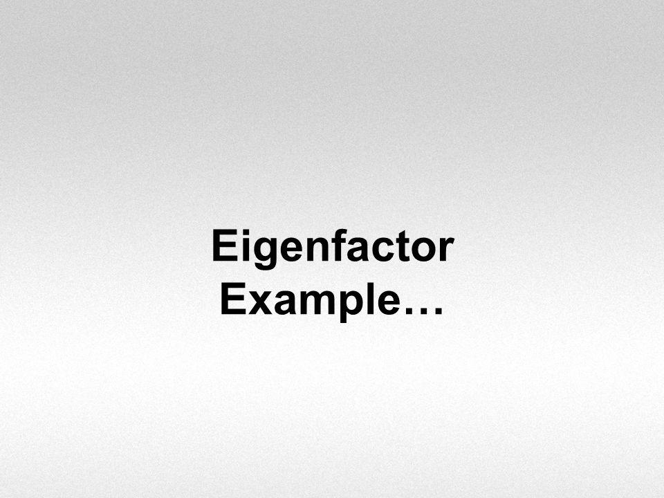 Eigenfactor Example…