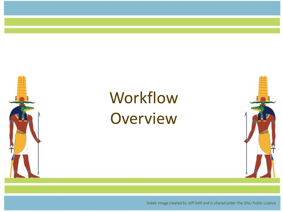 Workflow Overview Sobek image created by Jeff Dahl and is shared under the GNU Public License