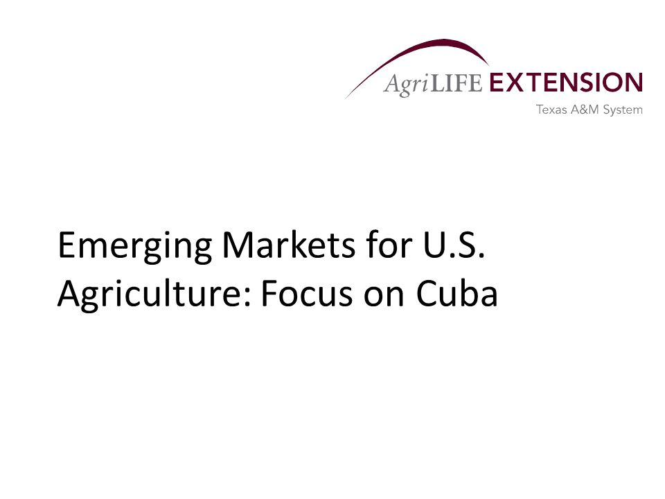 Overview  Agriculture is twice as reliant on exports as the overall U.S.
