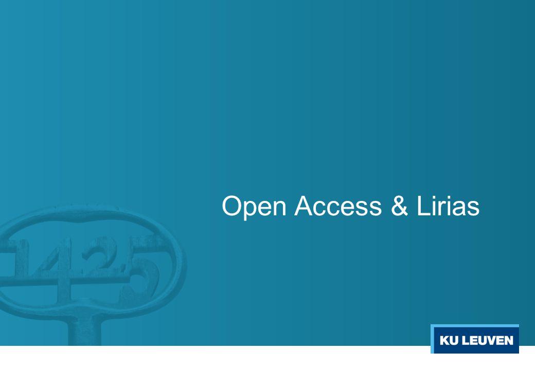 Open Access & Lirias