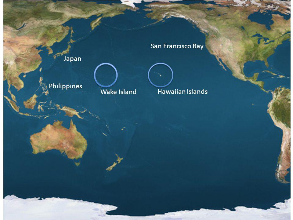 Wake Island Hawaiian Islands Japan San Francisco Bay Philippines