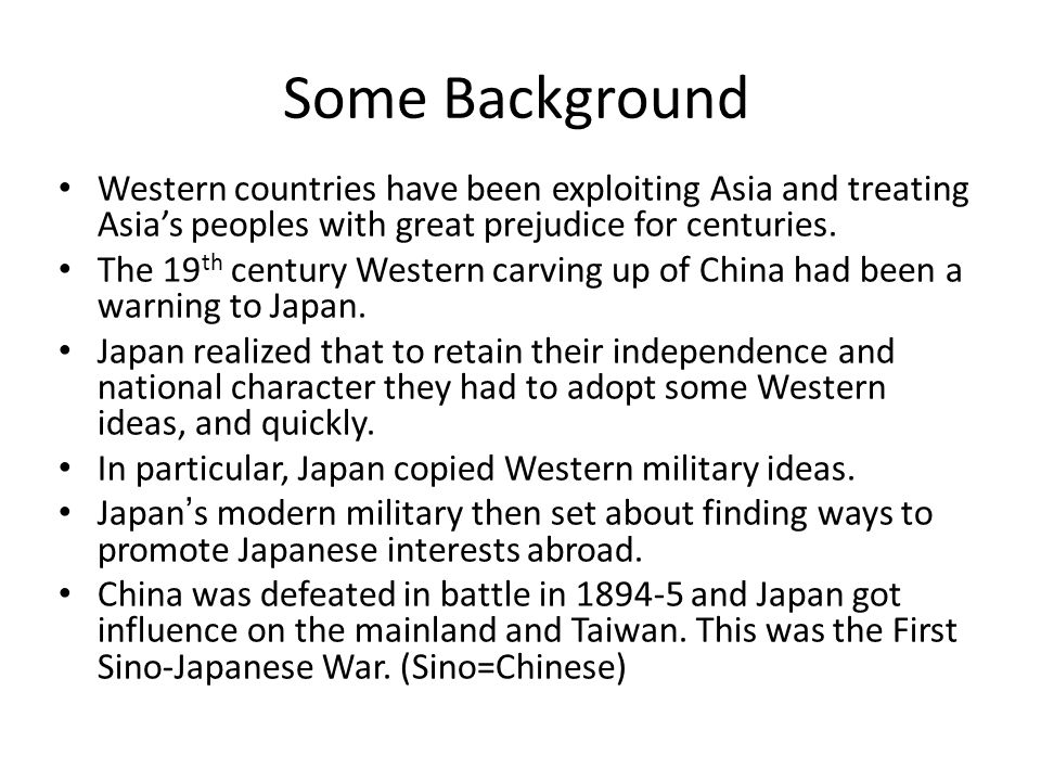 The Japanese Empire Japan has a severe lack of natural resources.