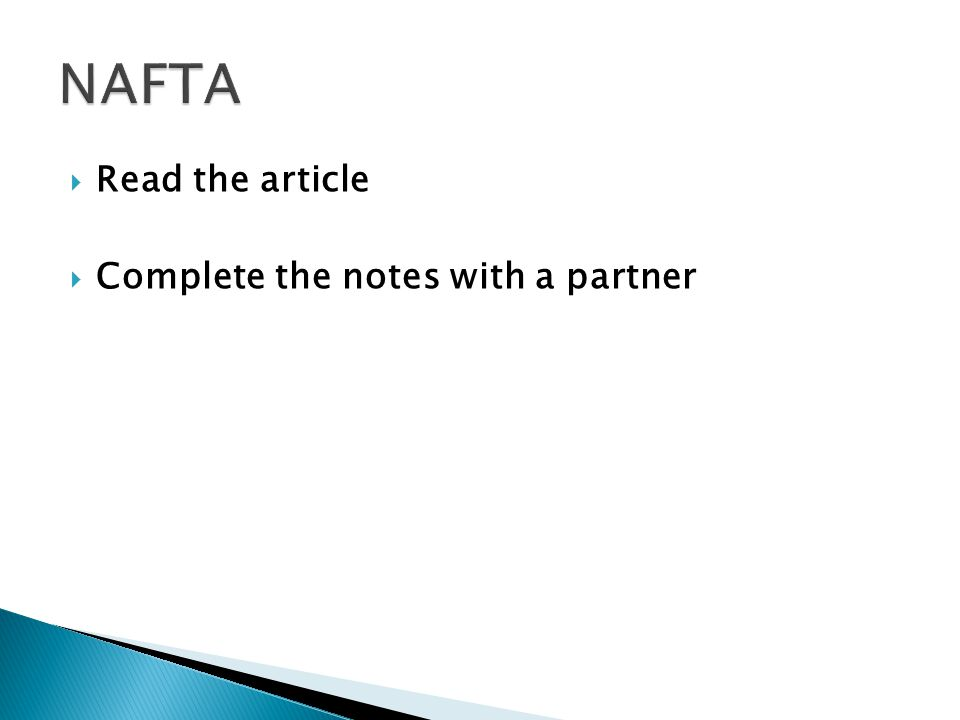  Read the article  Complete the notes with a partner
