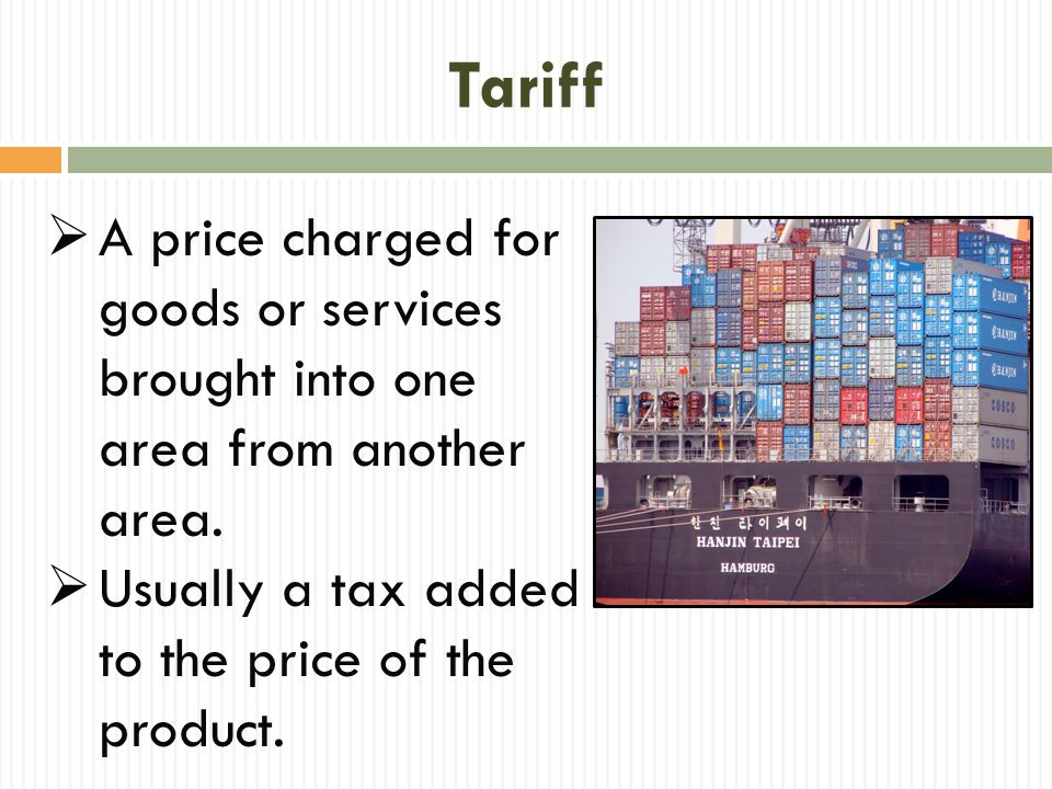Quota  A limit on the amount of product that may be imported during a given period of time.