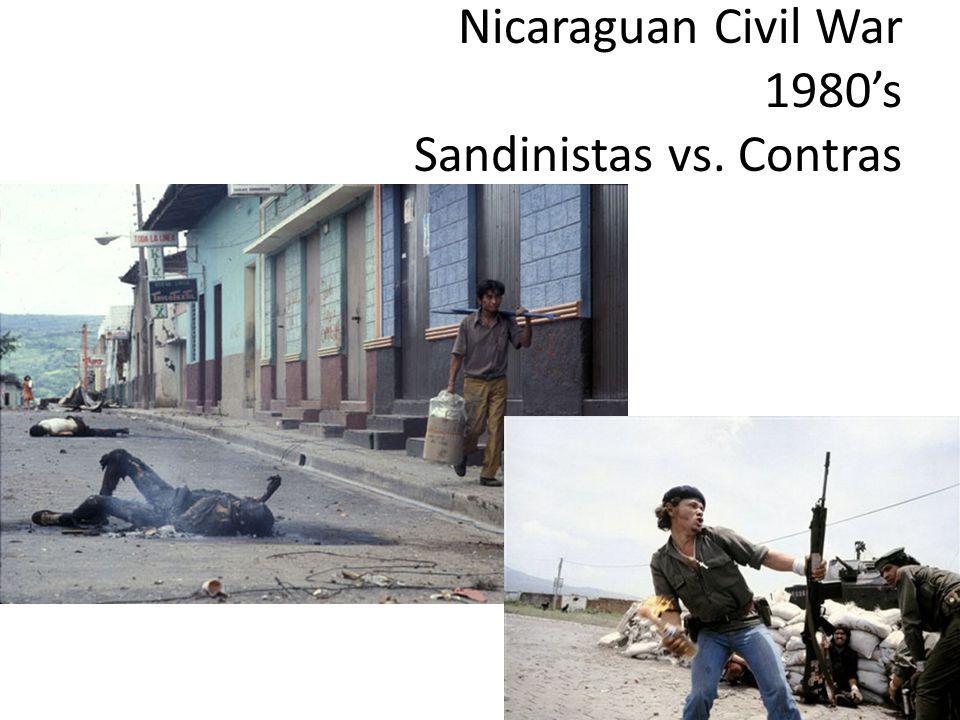 Nicaraguan Civil War 1980's Sandinistas vs. Contras