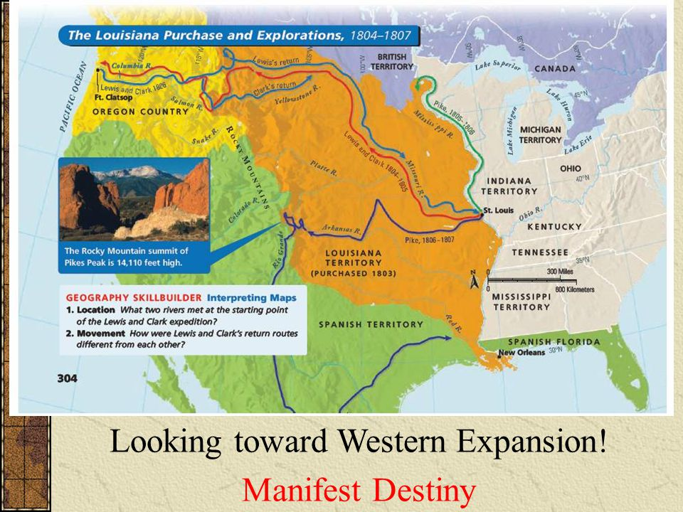 Looking toward Western Expansion! Manifest Destiny