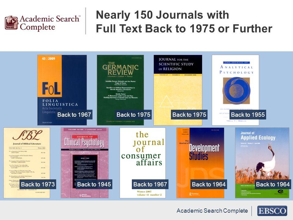 Back to 1964Back to 1973Back to 1945Back to 1967Back to 1964 Academic Search Complete Back to 1967Back to 1975 Back to 1955