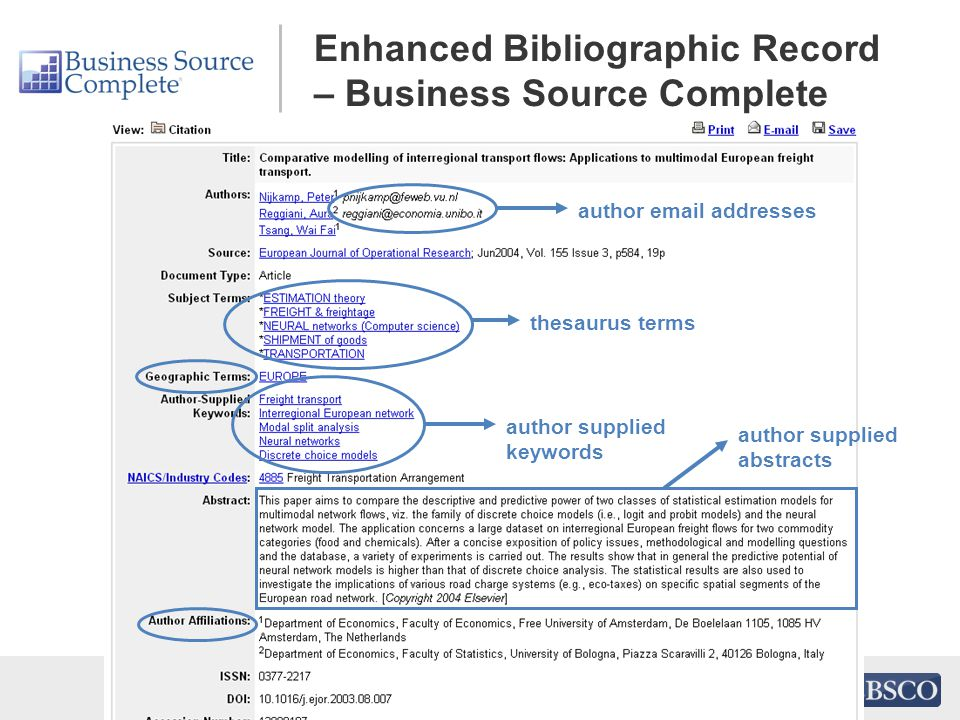 author email addresses thesaurus terms author supplied keywords author supplied abstracts Enhanced Bibliographic Record – Business Source Complete