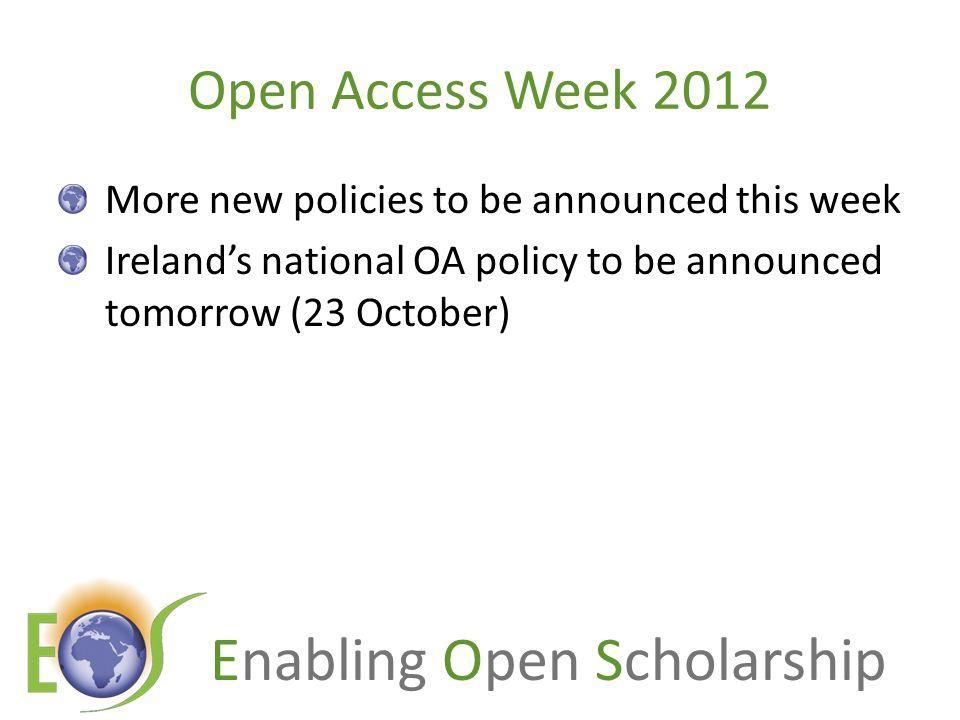 Enabling Open Scholarship Resources 1.