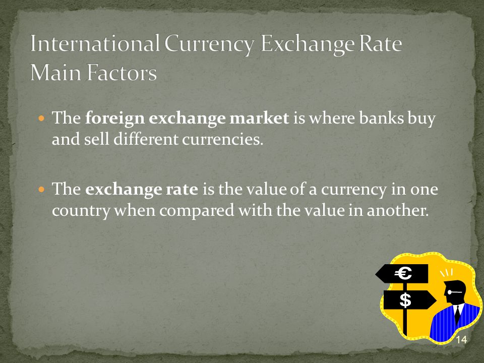 The foreign exchange market is where banks buy and sell different currencies.