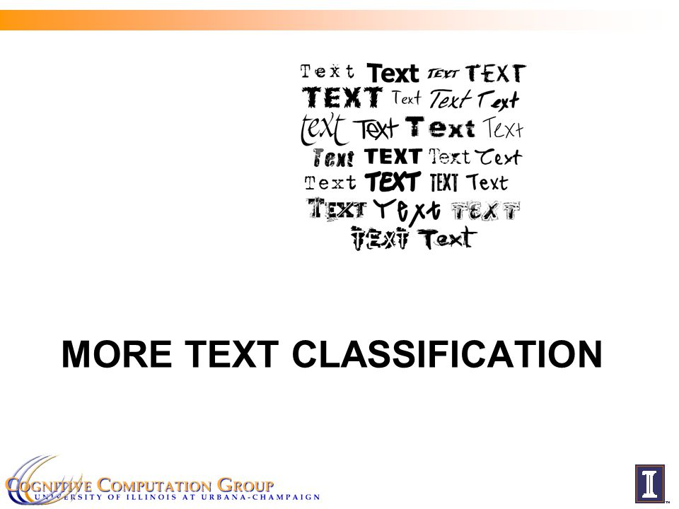MORE TEXT CLASSIFICATION
