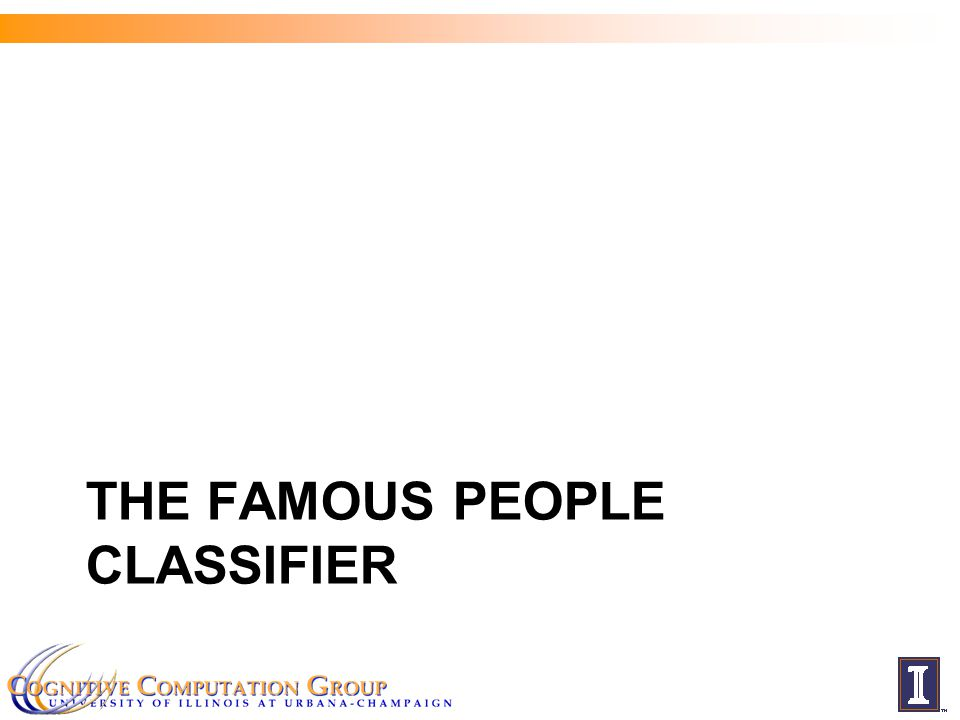 THE FAMOUS PEOPLE CLASSIFIER
