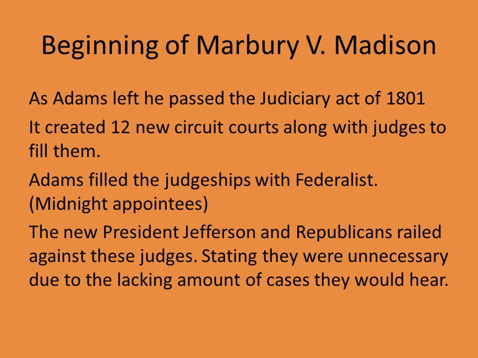 Beginning of Marbury V.