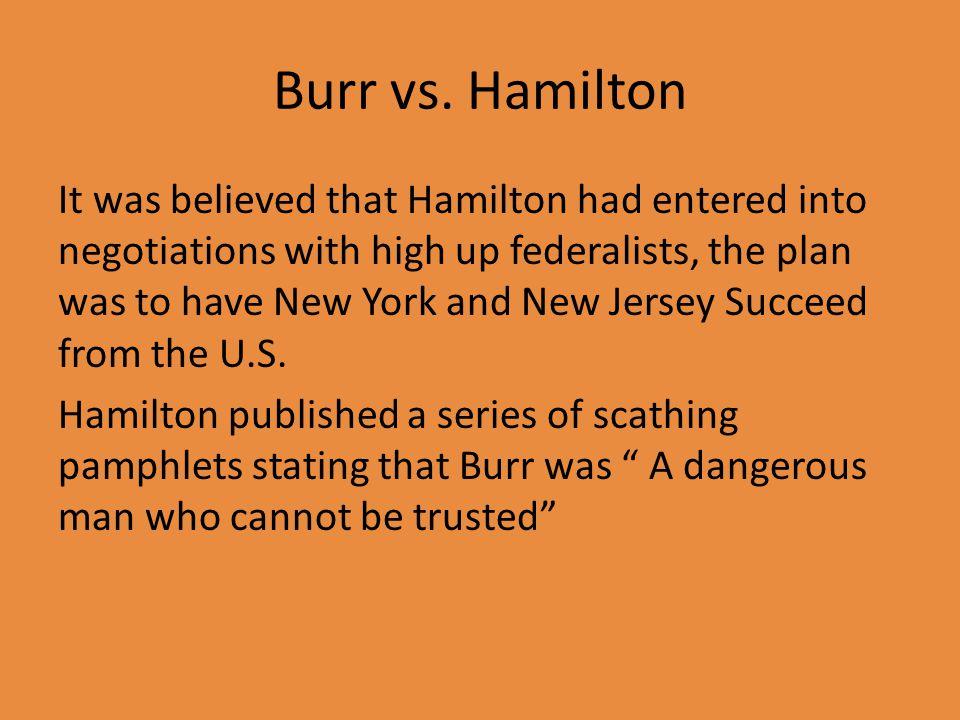 Burr vs.
