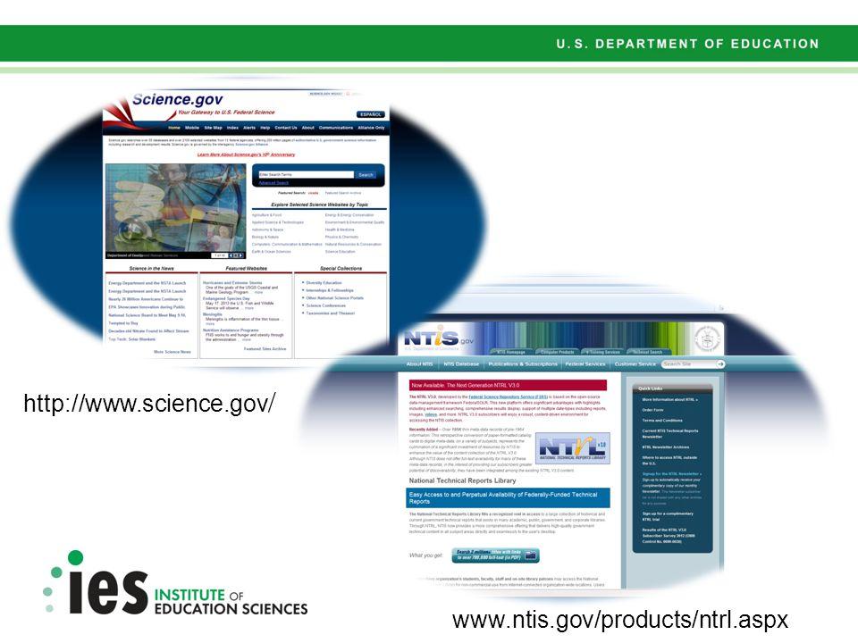 www.ntis.gov/products/ntrl.aspx http://www.science.gov /