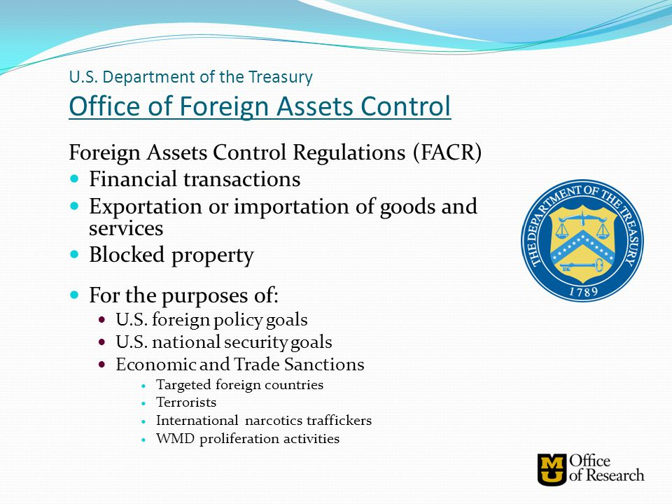 OFAC: Sanctioned Countries Comprehensive Sanctions Cuba Iran Sudan North Korea Syria List Based Sanctions Balkans Belarus Burma Cote D'Ivoire Democratic Republic of Congo Iraq Lebanon Liberia: Former Liberian Regime of Charles Taylor Somalia Zimbabwe Anti-Terrorism Diamond Trading Counter Narcotics Trafficking Non-Proliferation