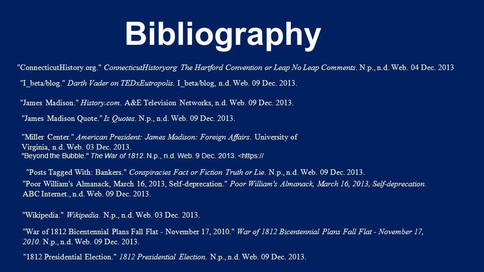 Bibliography Wikipedia. Wikipedia. N.p., n.d. Web.