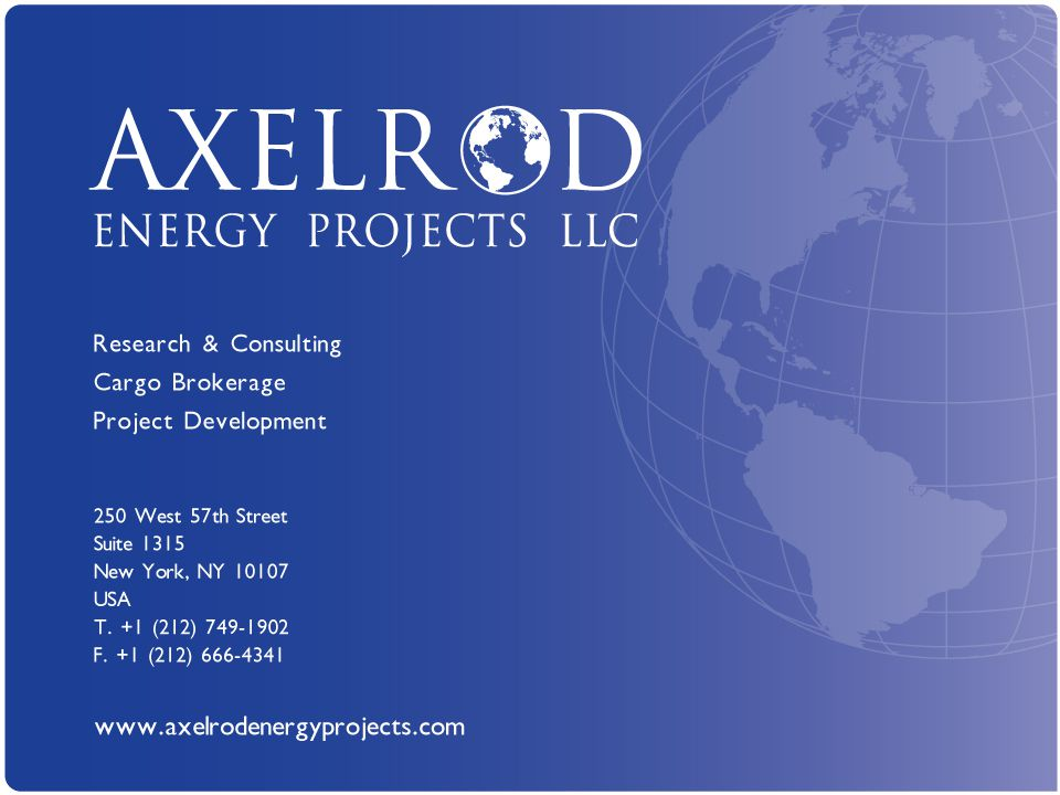 Axelrod Energy Projects LLC www.axelrodenergyprojects.com 1