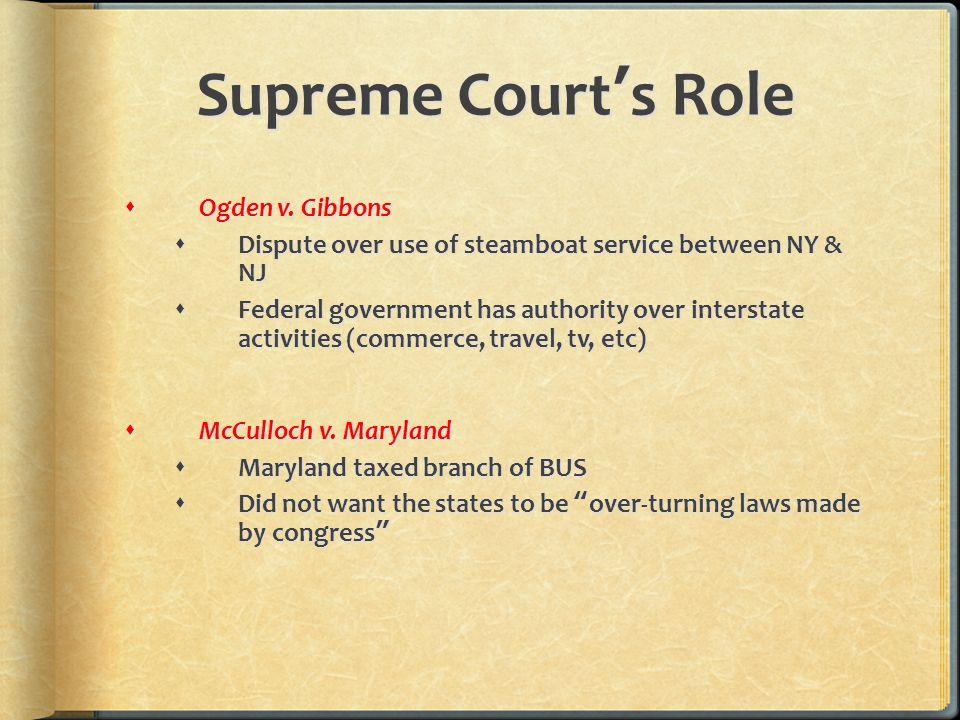 Supreme Court's Role  Ogden v.