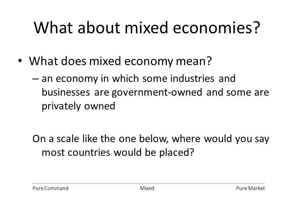 What about mixed economies.What does mixed economy mean.