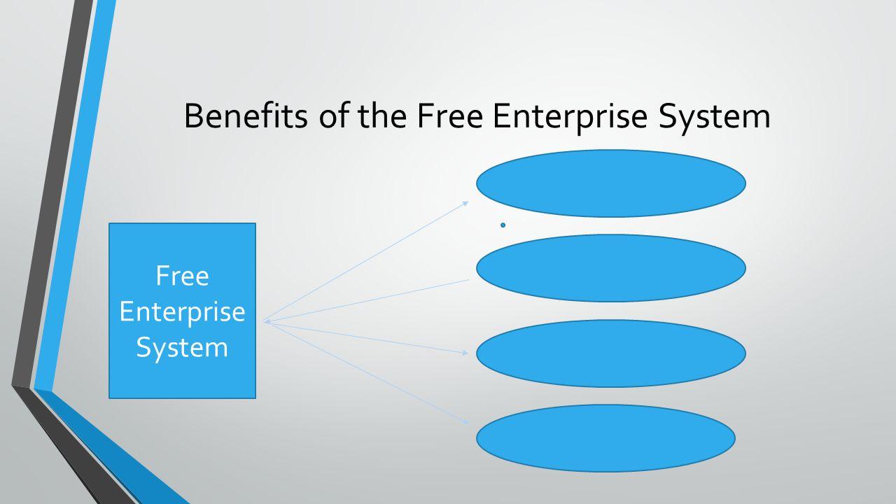 Benefits of the Free Enterprise System Free Enterprise System