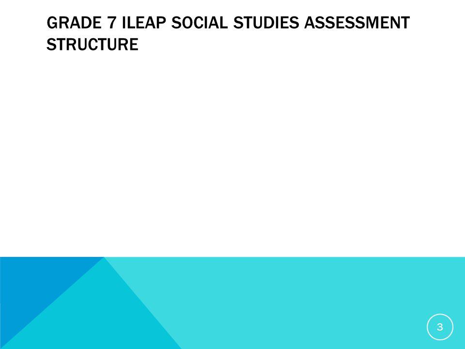 GRADE 7 ILEAP SOCIAL STUDIES ASSESSMENT STRUCTURE 3