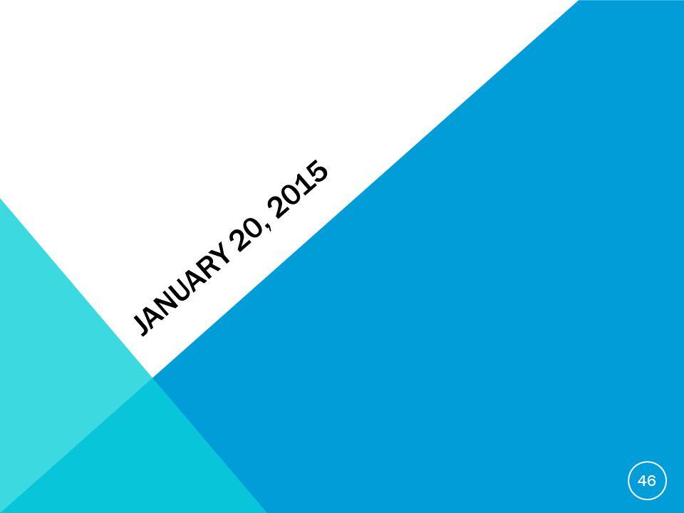 JANUARY 20, 2015 46