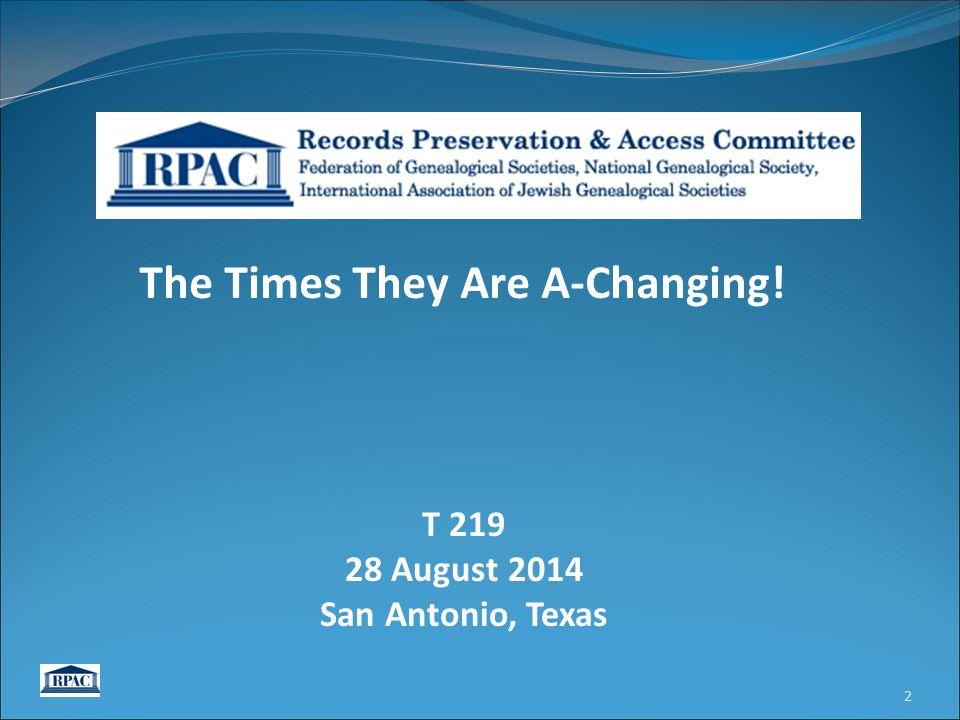 RPAC Requesting Amendment to Sec.