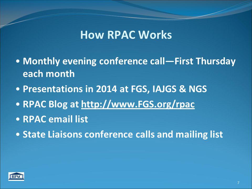 RPAC Blog http://www.fgs.org/rpac/ 8