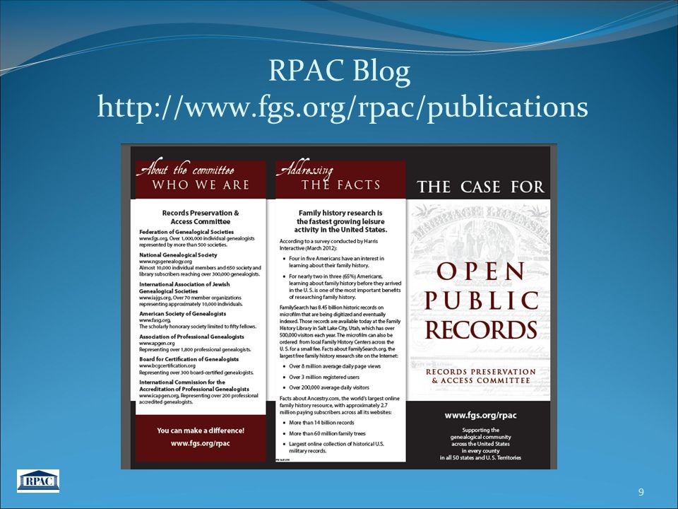 RPAC Blog http://www.fgs.org/rpac/publications 9