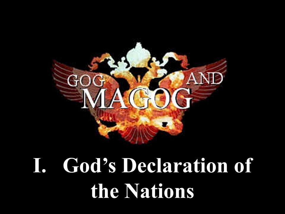 I. God's Declaration of the Nations