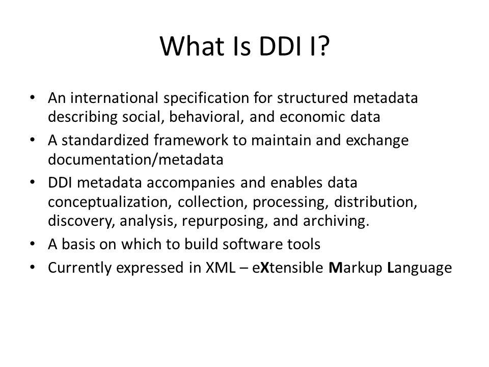 What Is DDI I.
