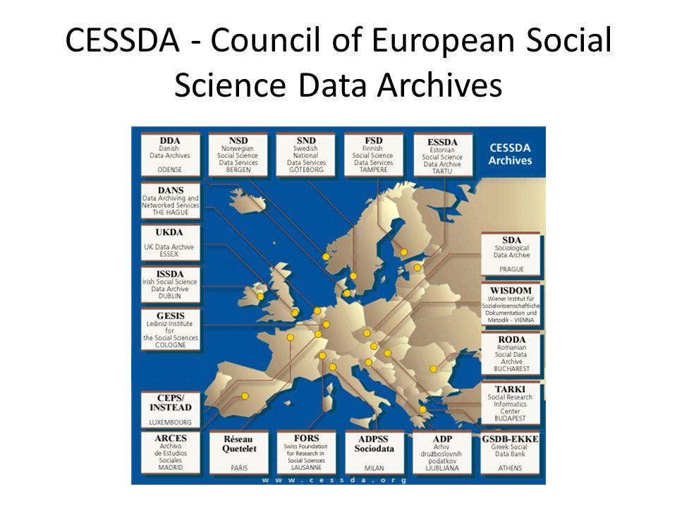 CESSDA - Council of European Social Science Data Archives