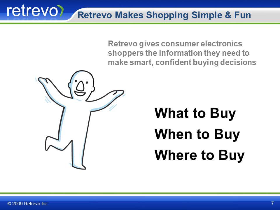 Retrevo Makes Shopping Simple & Fun © 2009 Retrevo Inc.