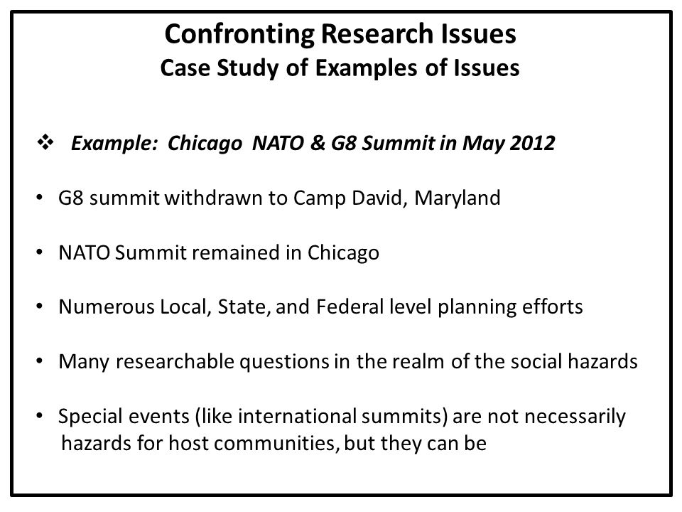Confronting Research Issues Concluding Statement The first step to confronting research issues is to realize...