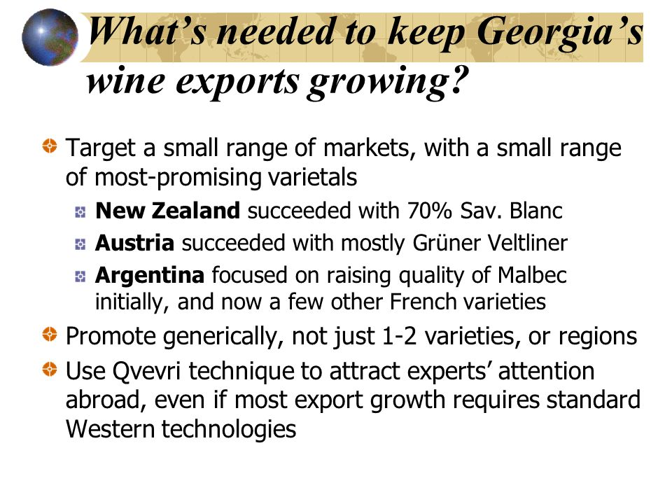 What's needed to keep Georgia's wine exports growing.