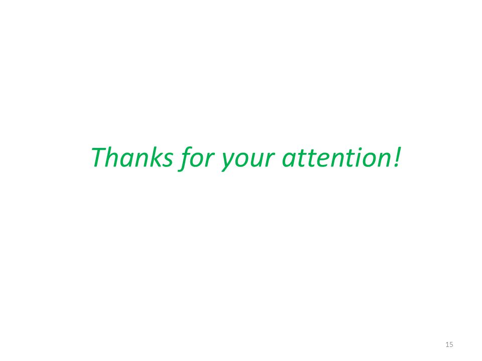 Thanks for your attention! 15