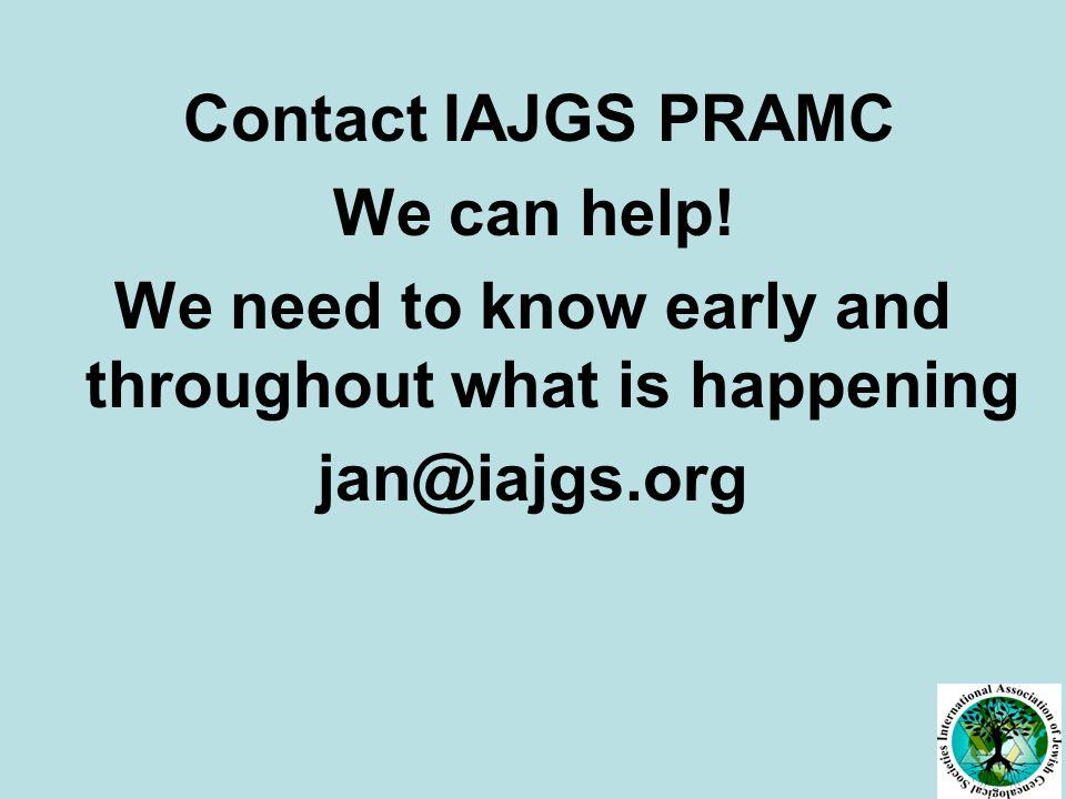 Contact IAJGS PRAMC We can help.