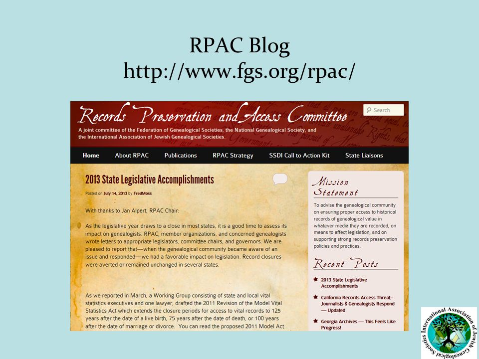 RPAC Blog http://www.fgs.org/rpac/