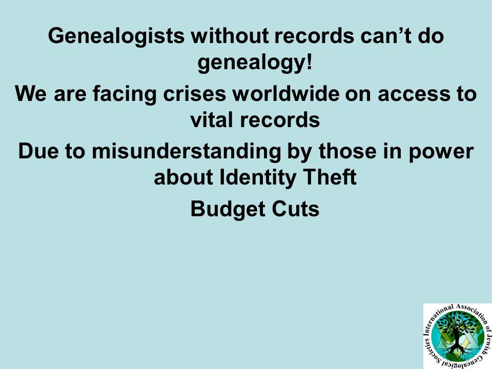 MAKE THE CASE FOR GENEALOGY!